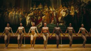 "screenshot from the video 'Apeshit', filmed in front of ""The Coronation of Napoleon,"" Jacques-Louis David"