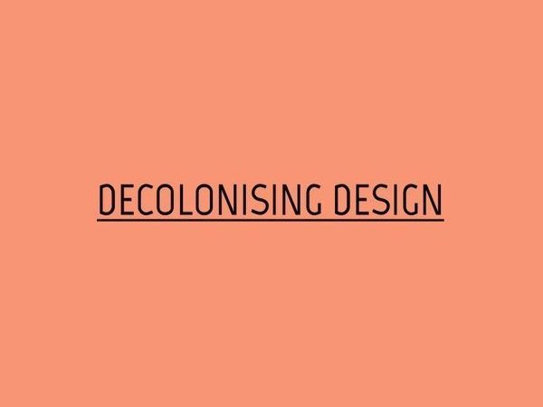 Decolonizing Design