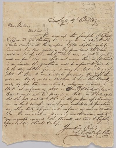 image of a letter on parchment paper