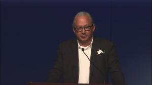 Image of Joe Horse Capture speaking at a lecture