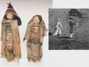 screenshot from the presentation slideshow showing Native American dolls