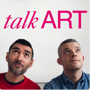 Talk Art podcast cover photo