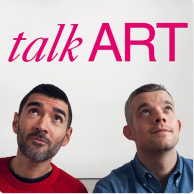 Talk Art podcast cover photo