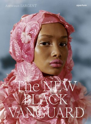 The New Black Vanguard Book cover showing a black muslim woman in a pink decorative hijab