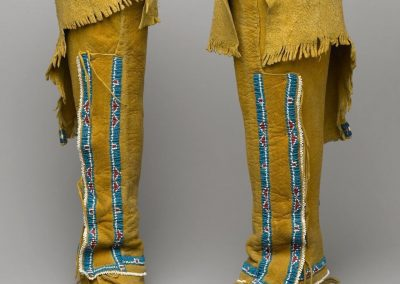 close-up image of 2 moccasins that reach knee-height
