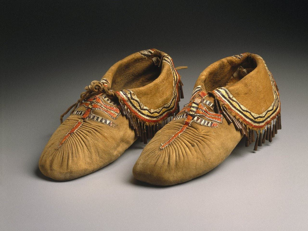 close-up image of 2 moccasins