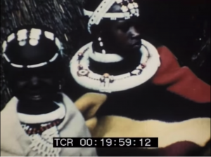 Still image from the archived advertisement showing a tribal South African mother and her child
