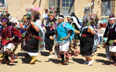 Image of several people participating in the Hopi butterfly dance