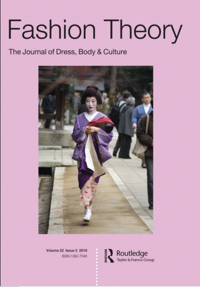 Fashion Theory Journal cover featuring a picture of a woman in a kimono