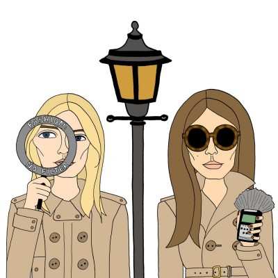 Fashion No Filter cover art showing a graphic illustration of two fashionable female detectives