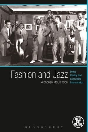 Fashion and Jazz book cover featuring a black and white photograph of men in a Jazz club