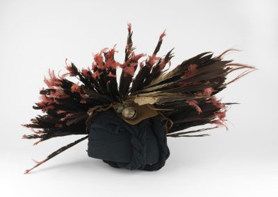 Museum collection image of a feathered headdress