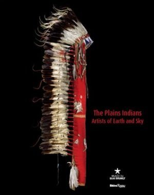 Book cover for The Plains Indians featuring an eagle feather War Bonnet in front of a black background