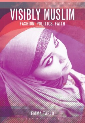 Visibly Muslim book cover showing a woman wearing a hijab looking upwards
