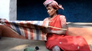 Gadaba woman holding kerang cloth