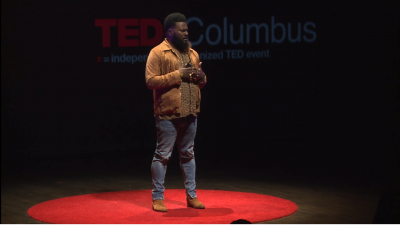 Still image of Ronald Murray talking on the TEDx stage
