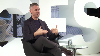 Screenshot from the recorded lecture of James Scully speaking on the BOF Voices stage