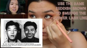 """Screenshot from """"MY EYE SHAPE IS NOT A TREND: fox eyes tutorial w/commentary"""" video."""