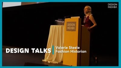 Valerie Steele at a podium