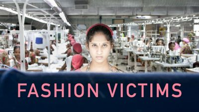 Young girl in a garment factory