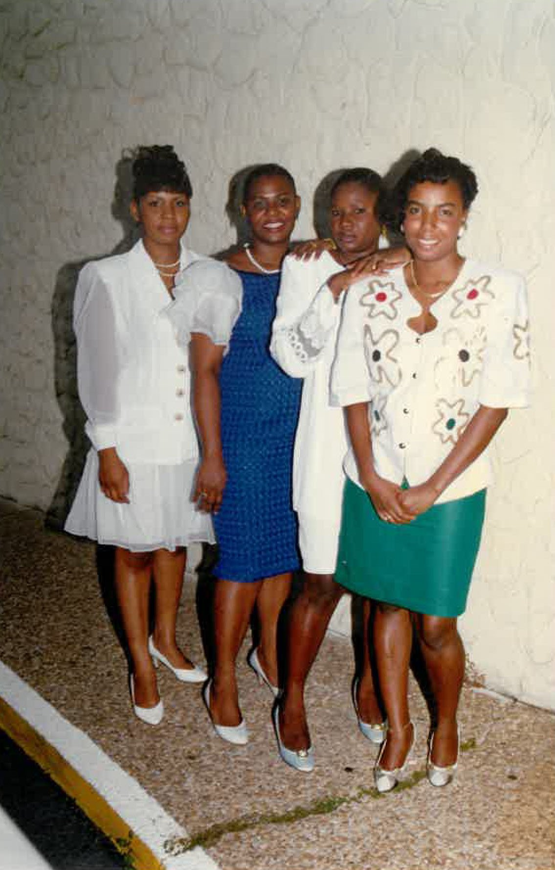Family photo of 4 women