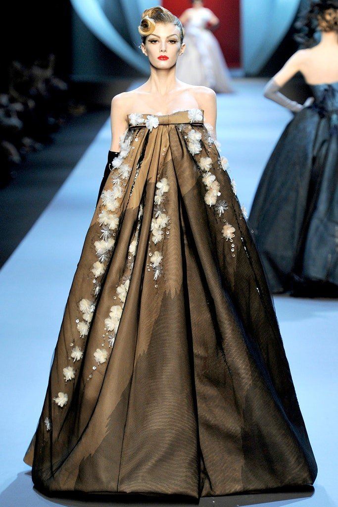Christian Dior Hanbok inspired dress on the runway