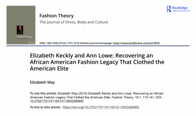 Article cover page with title and full reference