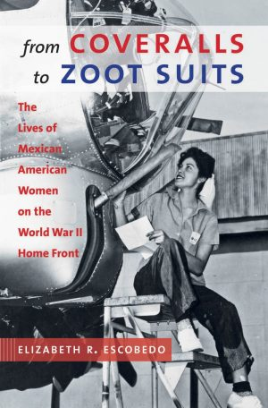 book cover with an image of a woman in uniform working as a mechanic on an aircraft