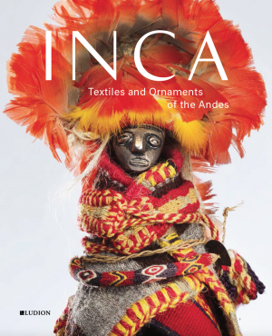 Book cover with image of an Inca figurine wrapped with textiles and with feather headwear
