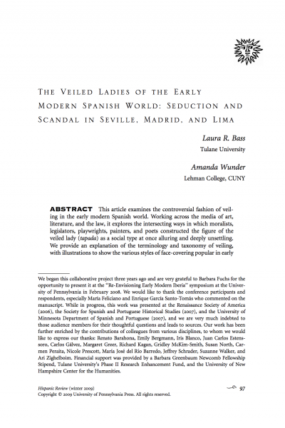 First page of article with title, abstract, and the authors' acknowledgements