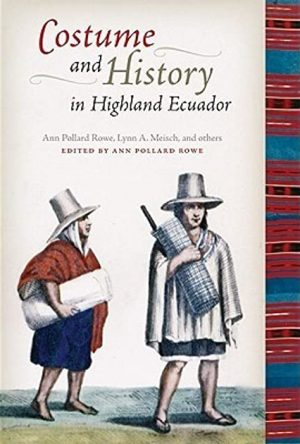 Book cover with a representation of two Andean men wearing hats and Uncu capes