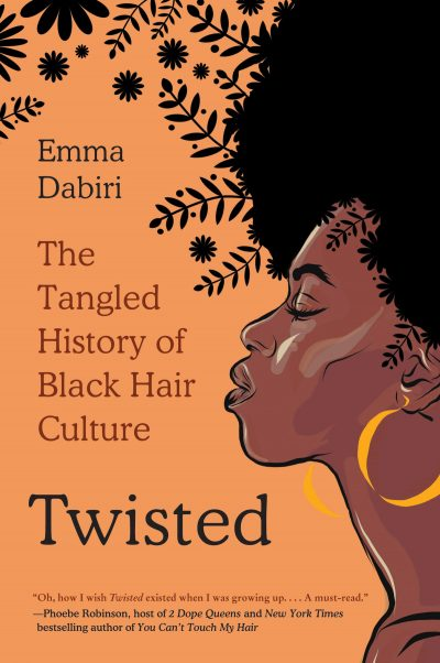 book cover with illustration of black woman with stylized hair with branches and leaves growing out of it