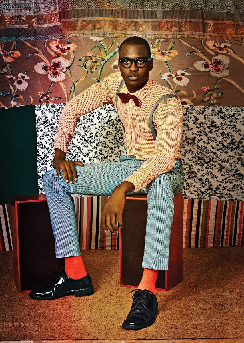 Thierno Ndiaye, pictured here, is a model, fashion designer, and actor