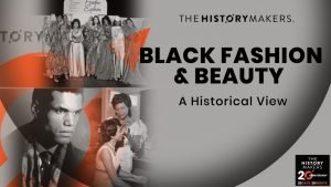 flyer for event with title and images of fashionable black women