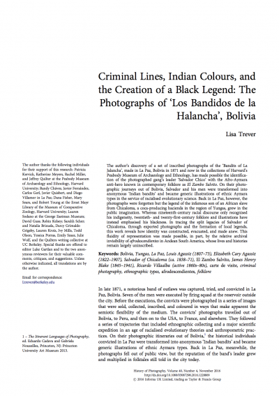 First page of article with title and text