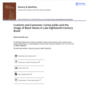 Article title page with title, author, and bibliographic information
