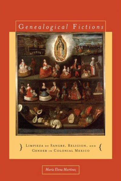 Book cover with image representing different types (or castes) from colonial Mexico