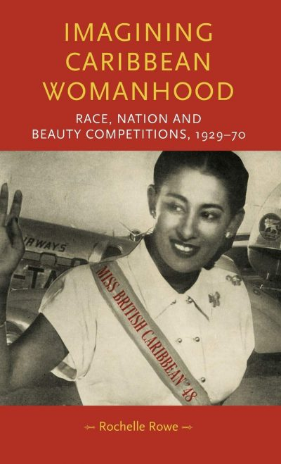 Book cover with black-and-white image of woman with a pageant band around her torso