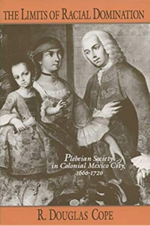 Book cover with black-and-white image of a man in 18th-century, European-style dress, a woman with a band around her head, and a child