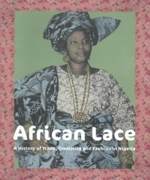 Book cover with illustration of woman with a white blouse and matching blue-and-black skirt headscarf