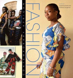 Book cover with images of women wearing African fashion designs