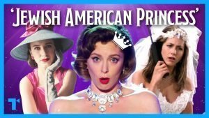 "Collage of three images of women with the words ""Jewish American Princess"" on the upper part of the image"