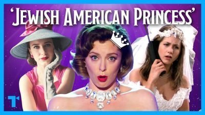"""Collage of three images of women with the words """"Jewish American Princess"""" on the upper part of the image"""