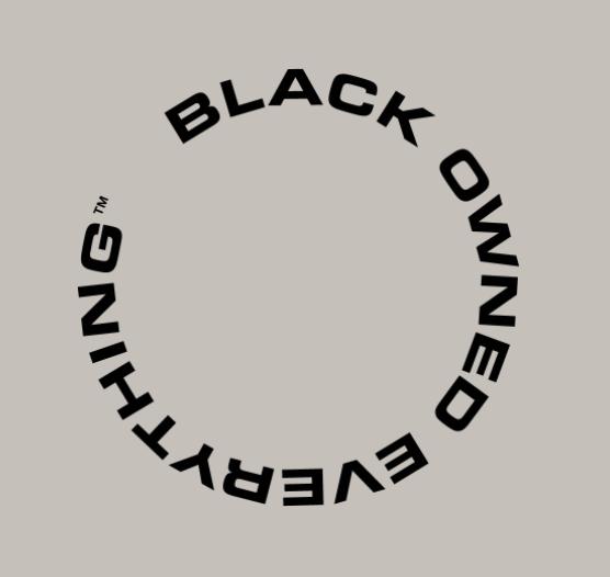 black owned everything logo