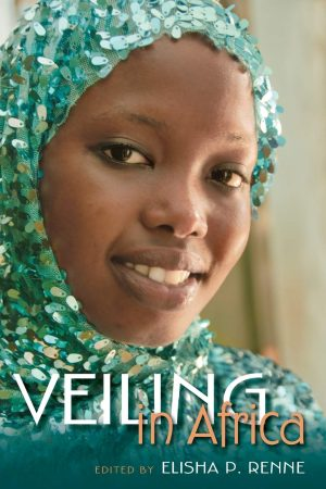 Book cover with photograph of a woman wearing a turquoise veil with sequins
