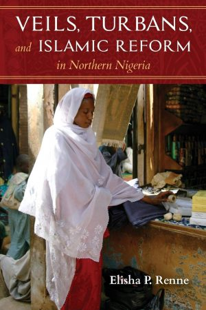 Book cover with photograph of a woman wearing a red dress under a white veil