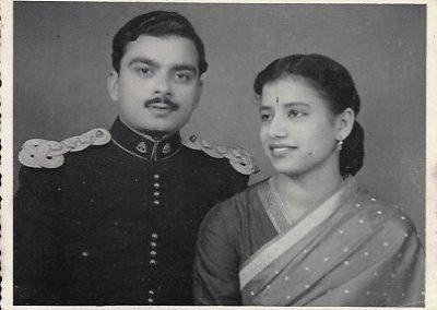 Chopra, Prem Shil. Brij Sood. Photograph. Punjab, India, 1957. Brij Sood and her husband on their wedding day.