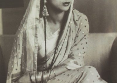 Sher-Gil, Umrao Singh. Amrita Sher-Gil. Photograph. Simla, India, 1936. Amrita Sher-Gil poses for her husband.