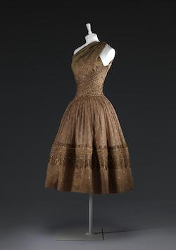 Sari-inspired dress from Christian Dior, 1955
