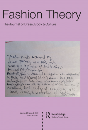 Journal cover with close-up of hand-written letter over a light purple ground